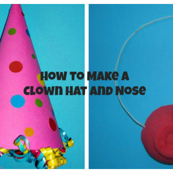 how to make a clown hat and a clown nose