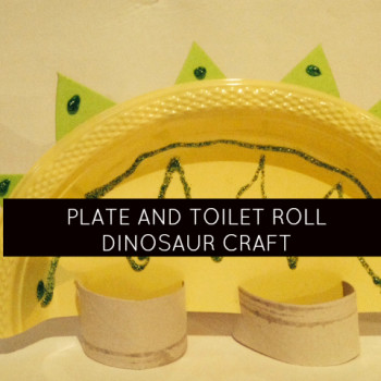 Paper Plate and Toilet Roll Dinosaur Craft & dinosaurs